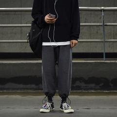 秋冬 男女生运动 下脚抽绳宽松百搭休闲裤 A306-F122-P58控78