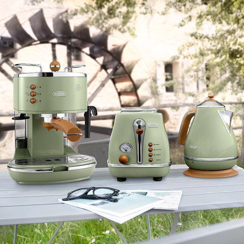 香港代购Delonghi/德龙 ECO310泵压式半自动咖啡机Icona Vintage