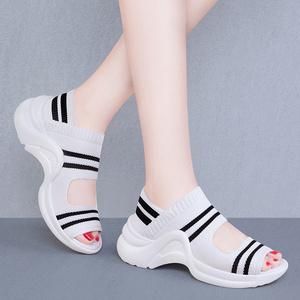 运动外穿厚底2021年今年新款休闲鞋
