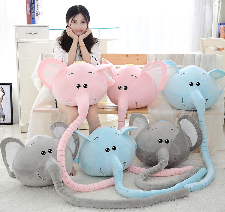 卡通长鼻象大象小象抱枕公仔毛绒玩具丑萌娃娃睡觉枕头沙发靠垫