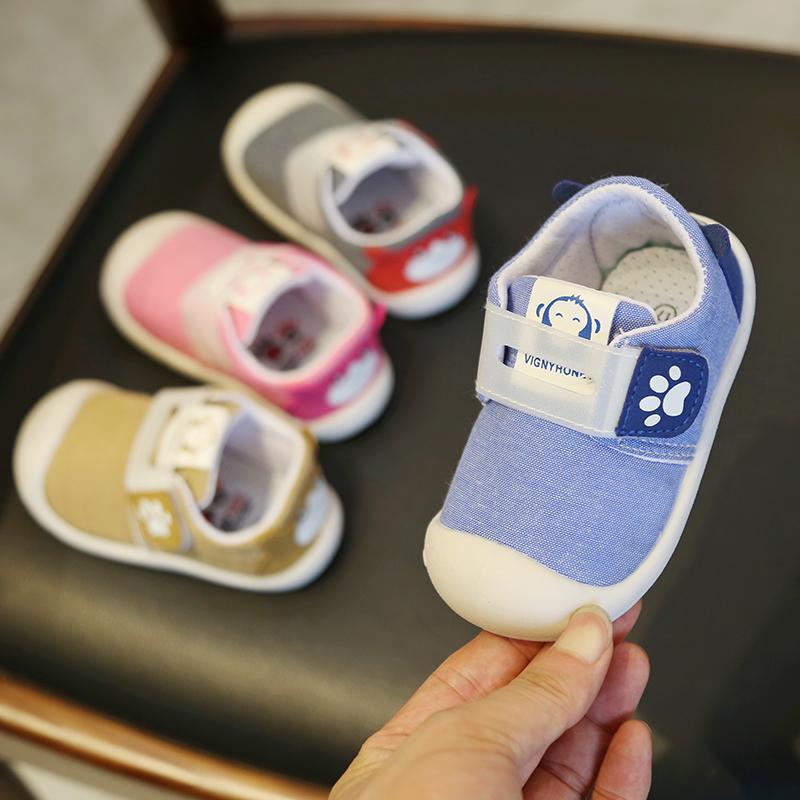 宝宝鞋子女1-3岁2婴儿学步鞋软底男宝宝鞋秋季2019新款童鞋不掉鞋