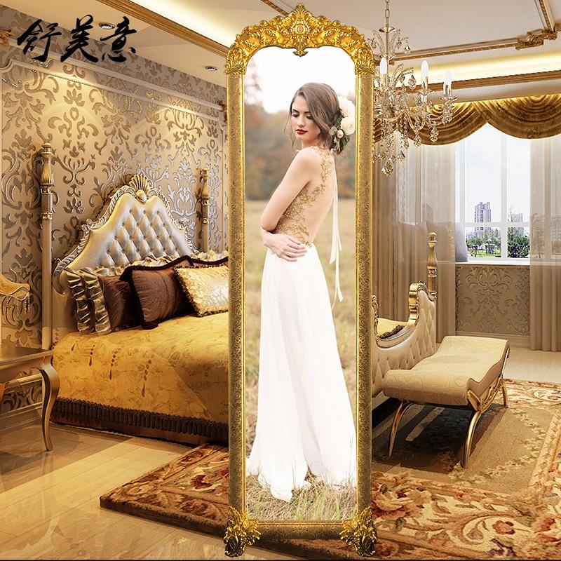欧式立体服装店公主家用卧室全身镜限99999张券