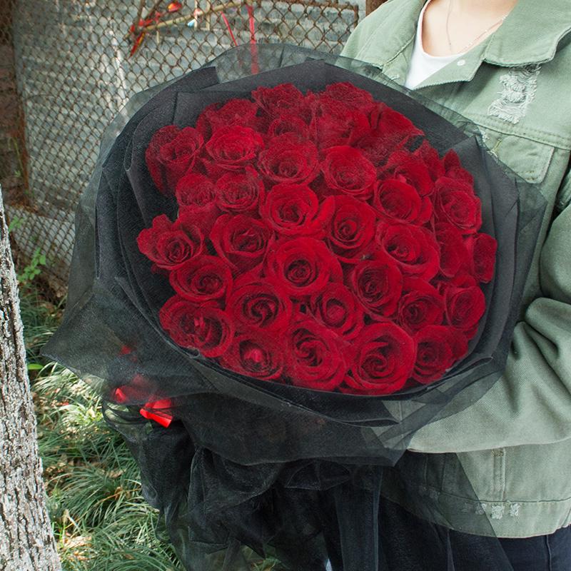 99朵红玫瑰花束香槟礼盒鲜花速递拉萨同城城关昌都本地生日送花店