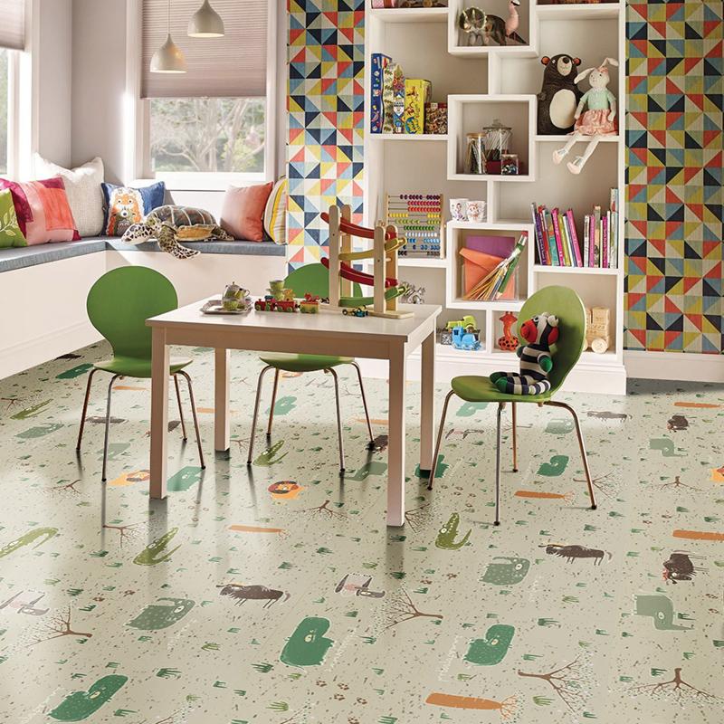 ENJOYWOOD пользуется защитой окружающей среды из древесины зеленый Корковая земля панель детские Земельный участок панель Африканский рай