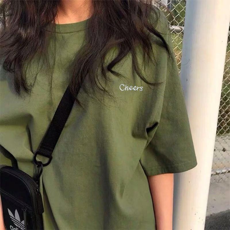 春夏季短袖t恤女装ins潮牌2021年新款网红韩版宽松学生半袖上衣服