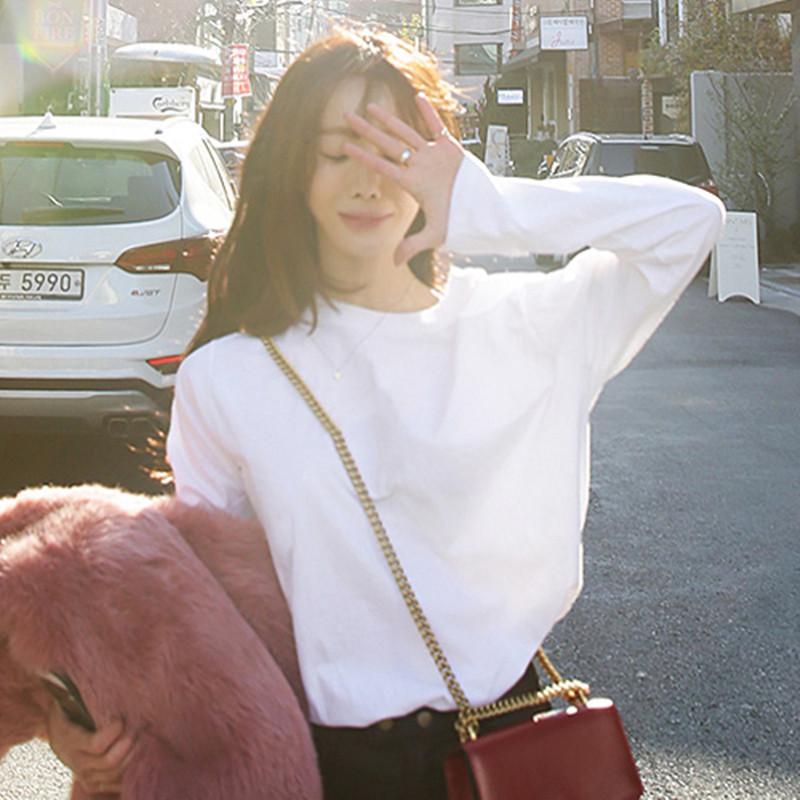 2020年女装时尚春季春秋新款欧洲站欧货小衫内搭洋气打底衫上衣潮