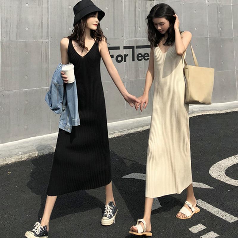 10月14日最新优惠吊带针织2019新款春装夏季小连衣裙
