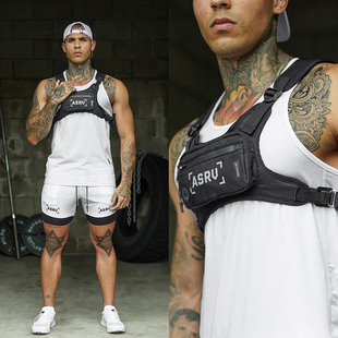 备专业 跑步运动手机胸包马甲户外夜反光战术背心双肩男训练健身装