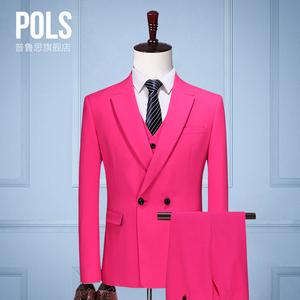 西服套装男士三件套新郎服装结婚礼服男西装套装修身韩版正装秋季