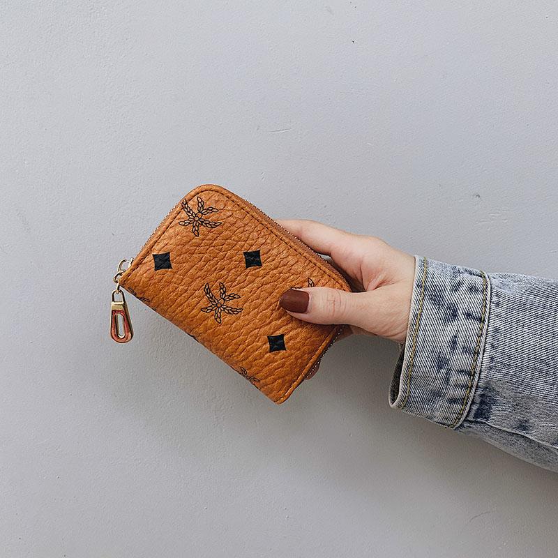 2020新款小卡包女短款小巧复古拉链钱包多卡位风琴卡套信用卡片套