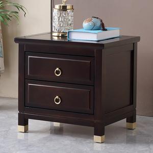 新中式实木床头柜简约现代创意ins免安装家用卧室床边储物收纳柜