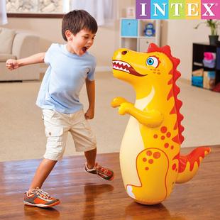 INTEX充气不倒翁儿童拳击沙袋加厚益智小孩不到翁宝宝玩具1-15岁