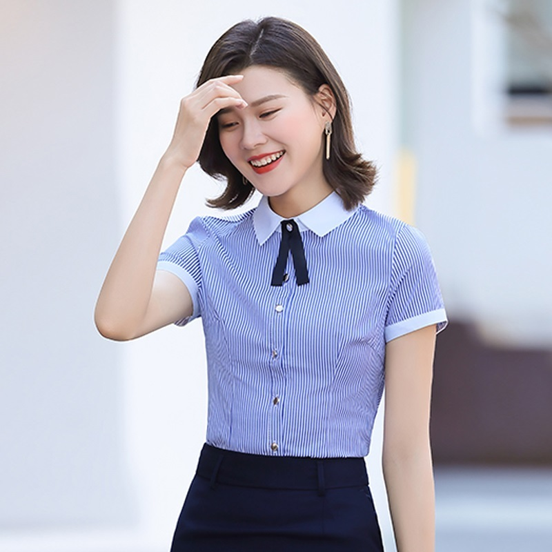 Accounting shirt women wear all-around sweet waiters work clothes female catering beauty salon white Telecom shopping mall