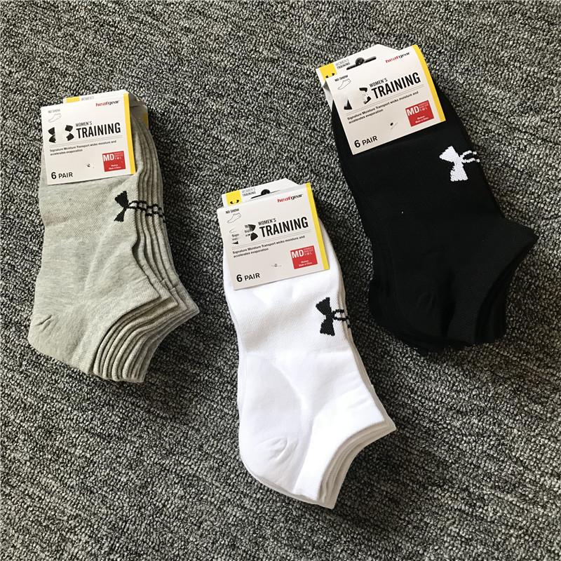 6双装包邮外贸美单男士纯棉网面运动全棉舒适休闲跑步船袜短袜子