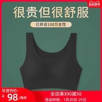 无痕内衣女无钢圈薄款文胸聚拢防下垂运动美背背心式收副乳小胸罩