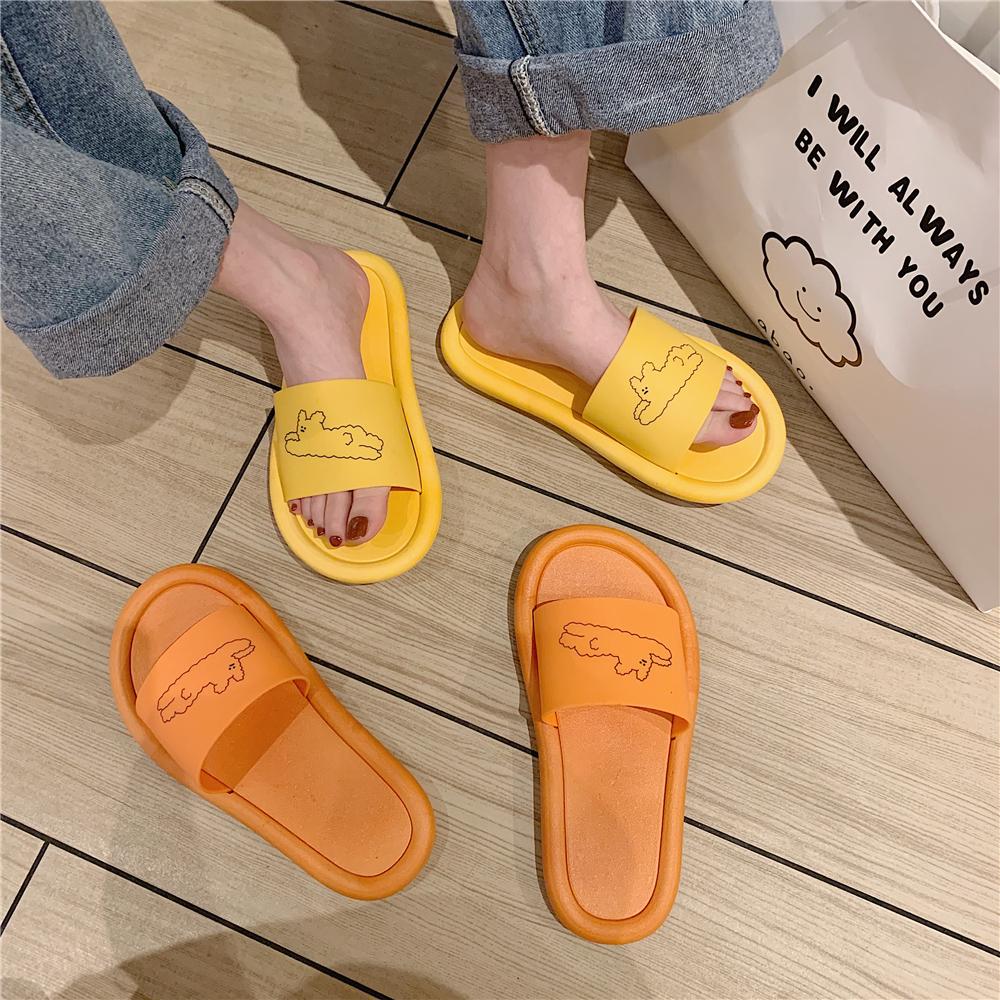 2020夏季新款卡通室内拖鞋男女外穿休闲平底拖鞋防滑情侣鞋室内鞋图片