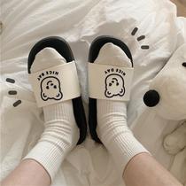 2020夏季韩版卡通可爱一字凉拖鞋防滑学生时尚外穿居家拖鞋女