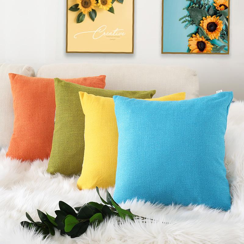沙发抱枕芯床头北欧风格靠背枕套(用28.5元券)