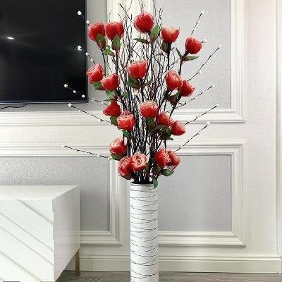 High end Nordic idyllic studio layout creative decoration dry flower landing false rose flowers made by artists