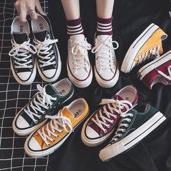 帆布鞋女2020夏季新款百搭韩版ulzzang学生女鞋薄款小白板鞋潮鞋