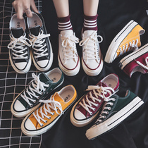 帆布鞋女鞋新款百搭韩版ulzzang2020年秋季学生小白板鞋布鞋潮鞋