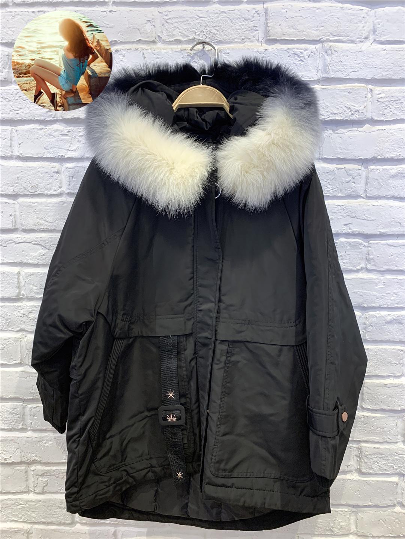 麦诺伊2020冬季shop1972绣花阔版羽绒派克服女MR010423002