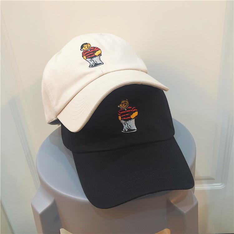 夏天韩版学生ins软顶小熊鸭舌帽11-29新券
