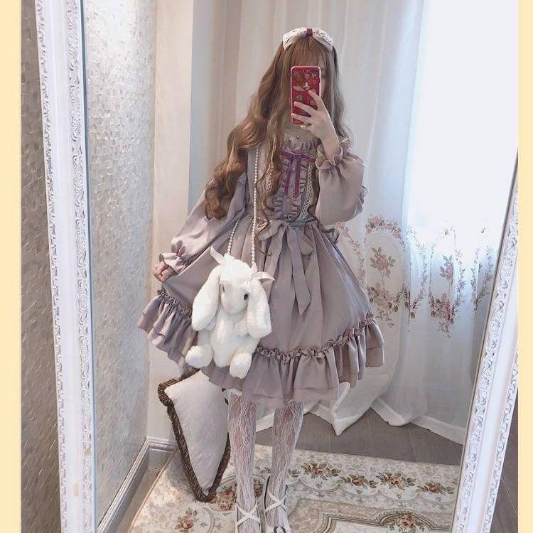 洛丽塔黑暗系洋t全套哥特风萝莉塔裙子正版裙原创连衣裙公主裙