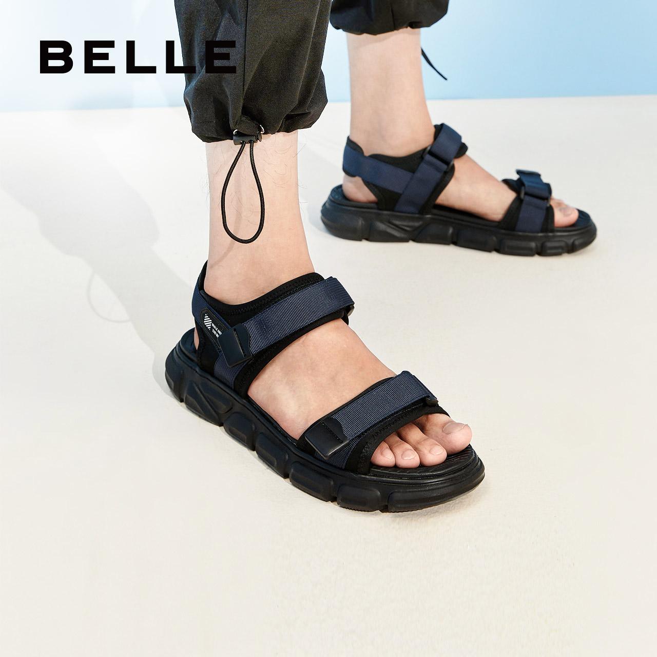 Giày thể thao nam mùa hè 2020 xu hướng mới đôi dép thể thao mang giày đế dày đi biển thắt lưng ma thuật 12502BL9 - Sandal