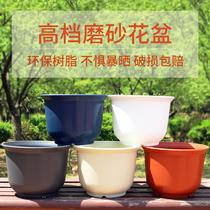 新款高档环保树脂花盆加厚防陶瓷花盆花盆塑料多肉绿萝阳台小花盆