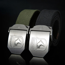 Outdoor military fan supplies automatic buckle canvas belt Special Forces Tactical belt uniform military pants weaving casual belt