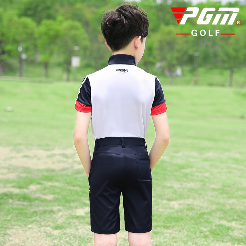 PGM golf apparel youth childrens golf wear boys short sleeve T-shirt shorts summer sports set