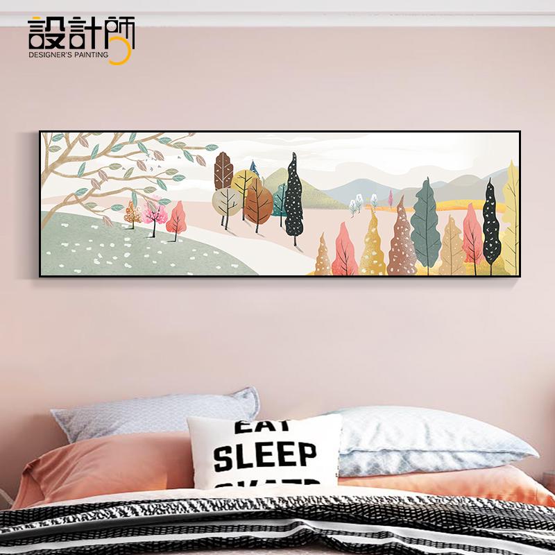 卧室床头现代简约客厅背景墙挂画