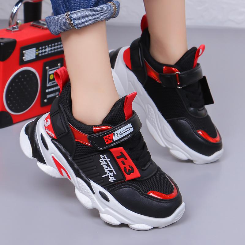 女童运动鞋2019秋季新款儿童网鞋中大童透气网面鞋小学生男童鞋子