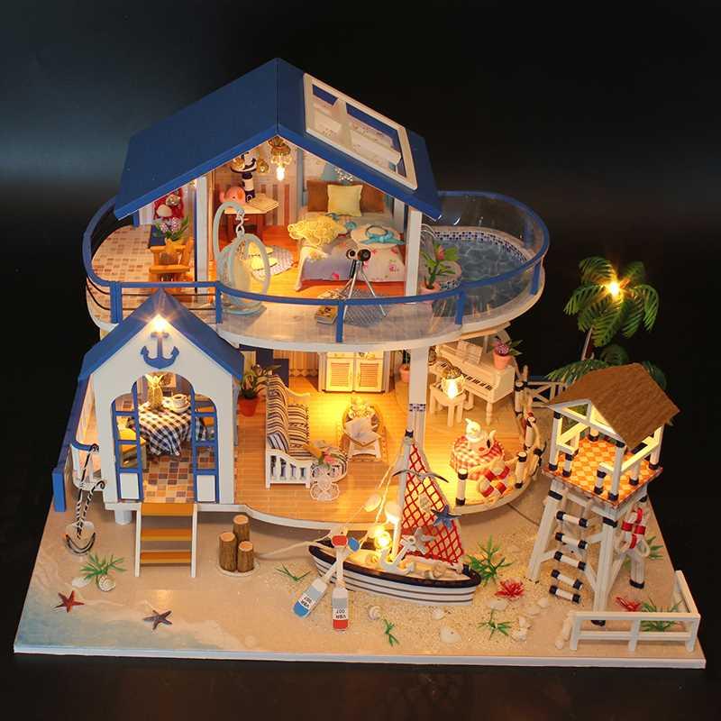 弘达diy小屋 大型手工制作房子拼装模型别墅创意61生日礼物送男女