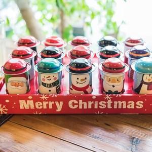 节日马口铁麋鹿大号生日圣诞铁盒圆筒礼品糖盒个性雪花酥喜糖曲奇