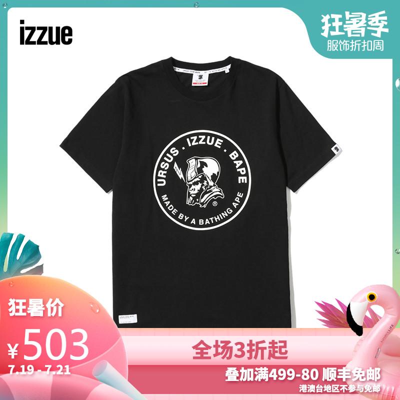 URSUS.IZZUE.BAPE男装短袖T恤春夏款时尚印花1259U8A