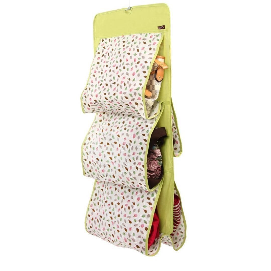 新款双面加大五层包包收纳袋 可洗棉布包包收纳挂袋 5格皮包