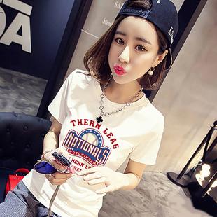 2018夏季新款韩版白色短袖修身t恤