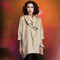 清仓特价棉麻外套欧美大牌加肥加大码女装促销品质中年时尚妈妈装