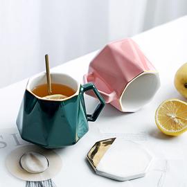北欧风杯子简约现代家用陶瓷马克杯喝燕麦粥的早餐杯创意个性水杯