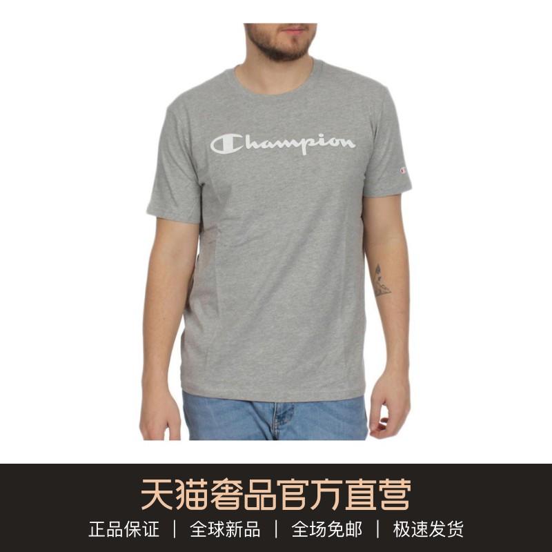 CHAMPION 男士灰色棉质圆领T恤11-02新券