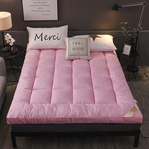 加厚10cm羽绒棉床垫1.5m软垫1.8米榻榻米护垫双人床褥子垫被2x2.2