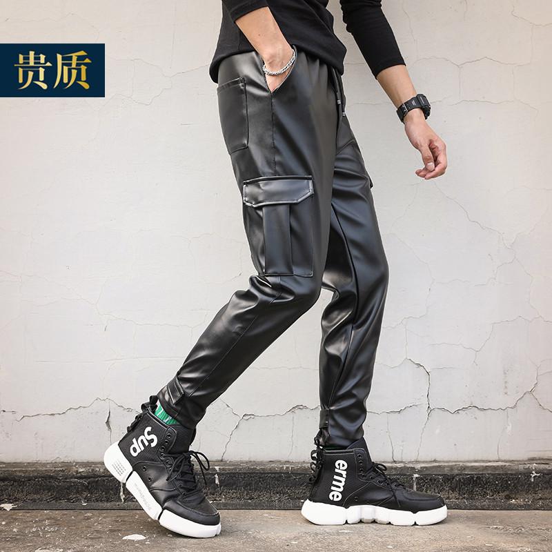 Кожаные брюки Артикул 614624018097