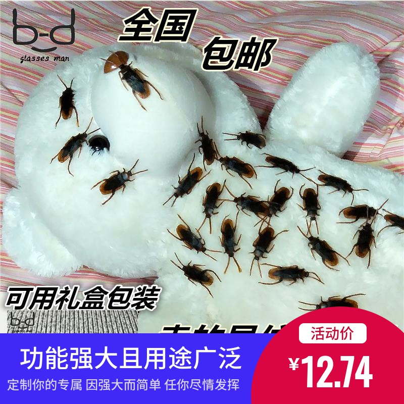 Birthday gift wonderful flowers spoof girls tease people prank props scare fake cockroach Xiaoqiang