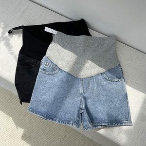 孕妇短裤夏季时尚外穿牛仔短裤女春夏薄款孕妇裤子打底孕妇装夏装