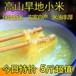 20年新太行山旱地黄小米农家自产杂粮粗粮月子米非山西小黄米 5斤