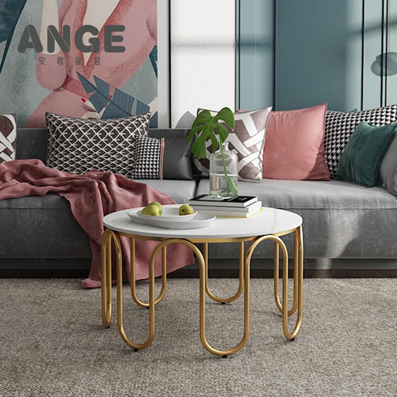 北欧の軽奢な大理石のお茶は簡単に現代の客間の小さい戸形のins家具の円形の創意は軽奢なお茶の何ですか?