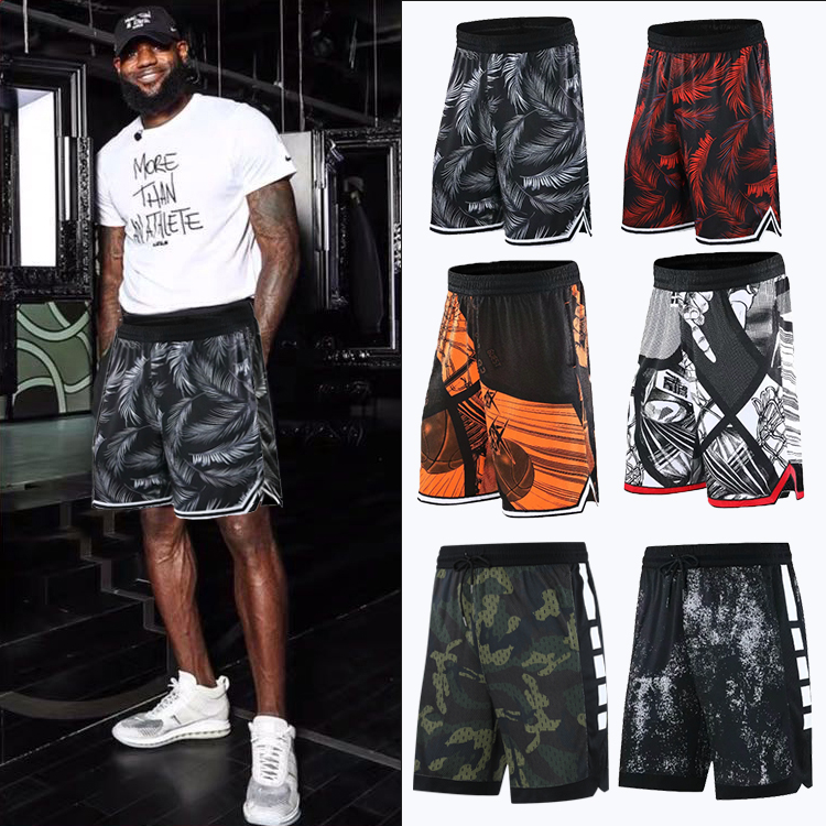 Basketball pants mens James loose fit womens casual beach quick dry running fitness training sports shorts summer