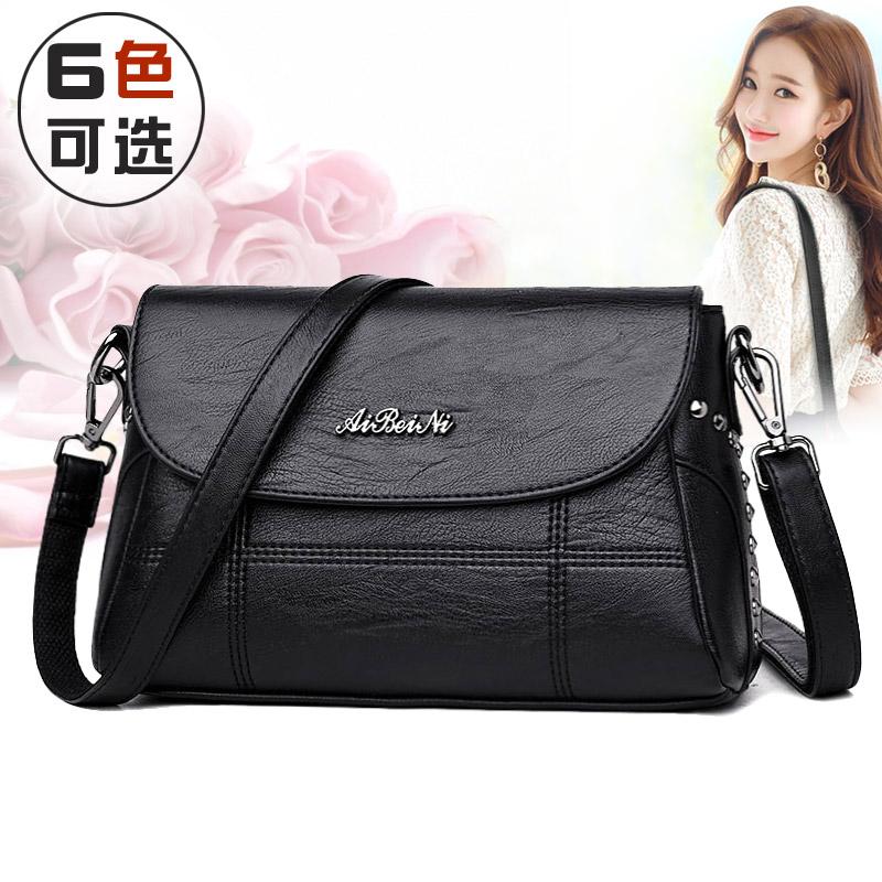 中年の女性のバッグのお母さんは2020新型のファッション的な小さいカバンの百が女性の柔らかい皮の大容量の単に肩の斜めにかけるショルダーバッグを掛けます。